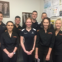 Chiropractor volunteers from Murdoch University