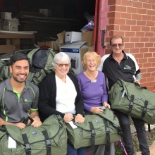 A donation of much needed swags from the Lions Club