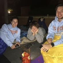 Orange Sky Laundry volunteers at the Sleep Out